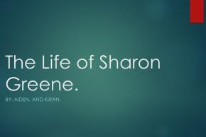 powerpoint title slide The life of sharon greene